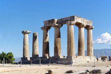 Le temple d'Apollon à Corinthe sur Berthold Werner