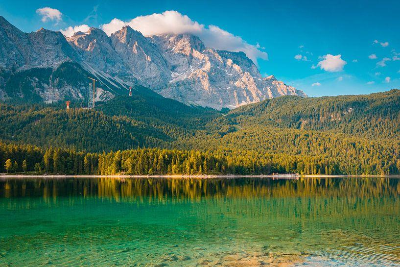 Uitzicht op de Zugspitze van Martin Wasilewski