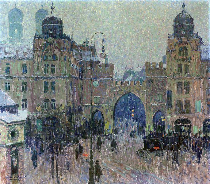 Munich, Am Karlstor, Charles Johann Palmie, 1907 sur Atelier Liesjes