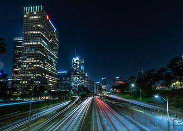 Downtown Los Angeles bei Nacht von Remco Piet