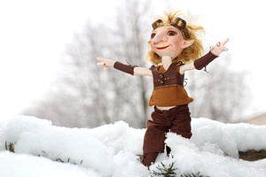 Lumuel im Schnee
