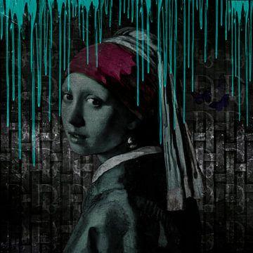 Das Mädchen mit dem Perlenohrring von Rene Ladenius Digital Art