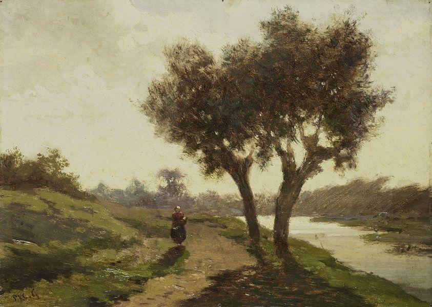 Landschap met twee bomen, Paul Joseph Constantin Gabriël van Meesterlijcke Meesters