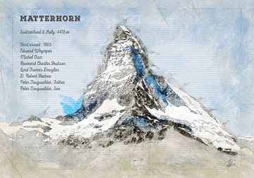 Matterhorn, Zwitserland van Theodor Decker