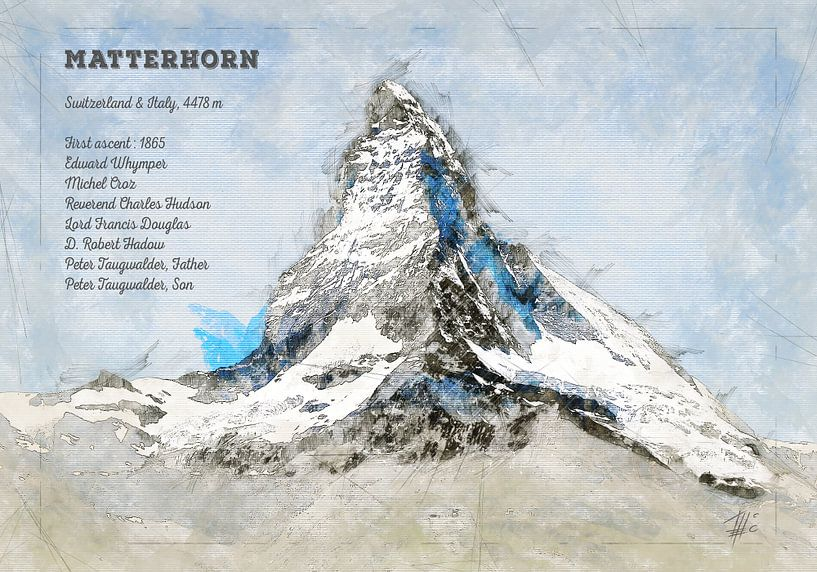 Matterhorn, Schweiz von Theodor Decker