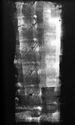 Uitgevlakt | Abstract zwart-wit