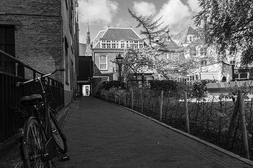 Leiden klooster zwart wit van
