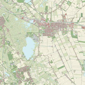 Kaart vanHoogezand-Sappemeer