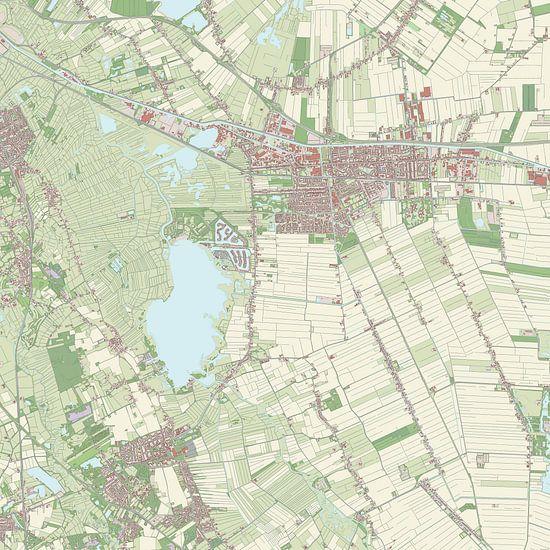 Kaart vanHoogezand-Sappemeer van Rebel Ontwerp