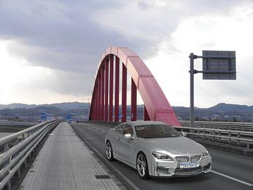 Auto Rote Brücke von H.m. Soetens