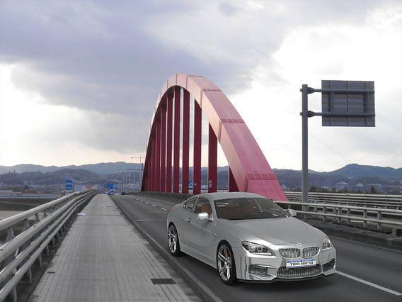 Car Red bridge