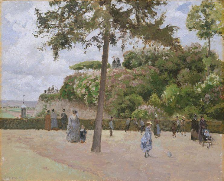 De Openbare Tuin in Pontoise, Camille Pissarro van Meesterlijcke Meesters