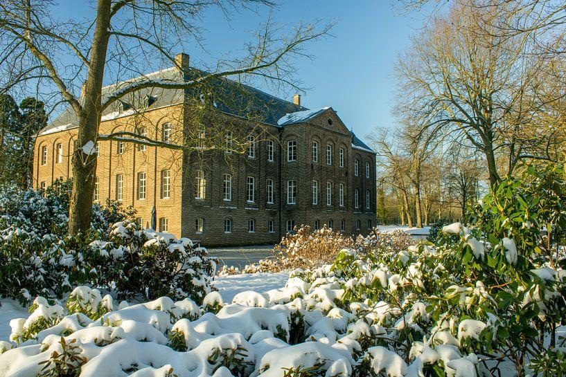 Château au soleil et à la neige sur Norman van Schijndel