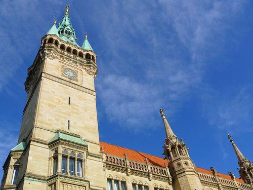 Braunschweiger Rathaus von Süden, Rathausturm van Barbara Hilmer-Schroeer