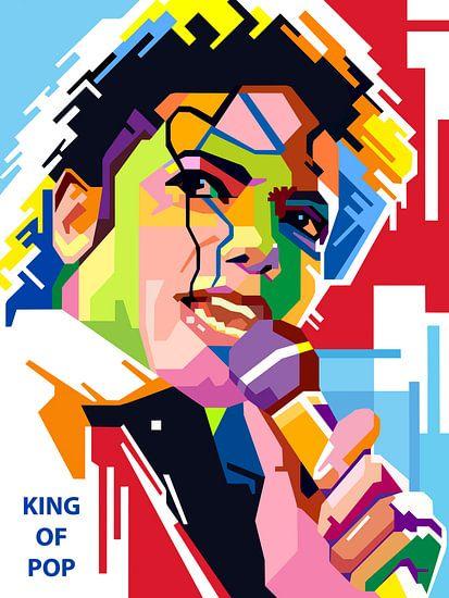 Pop Art Michael Jackson van Jan Willem van Doesburg