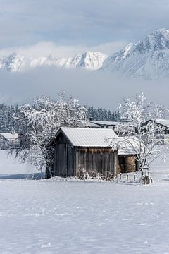Schneelandschaft in Maishofen (A) von Martine Dignef