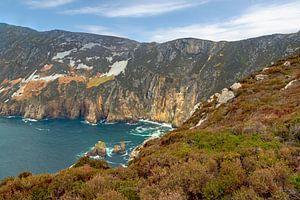 Die schroffe Schönheit der felsigen Küste von Slieve League , Donegal, Irland
