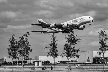 Take off A380 te Schiphol van Patrick Vercauteren