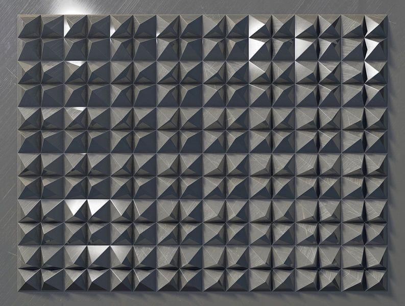 Reliëf C3 Aluminium van Frans Blok