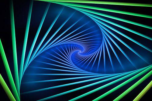 Kleurrijke spiralen van