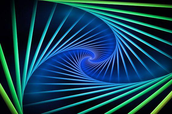 Kleurrijke spiralen van Tim Abeln