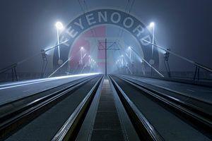 Feyenoord op de Erasmusbrug