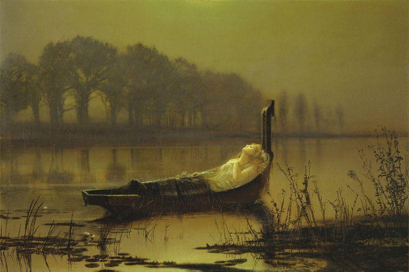 The Lady of Shalott, John Atkinson Grimshaw von Meesterlijcke Meesters