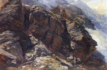 Hochgebirgsstudie, EDWARD THEODORE COMPTON, Wohl um 1870