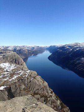 Lyse Fjord Noorwegen van