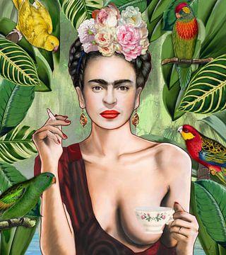 Frida con amigos van Nettsch .