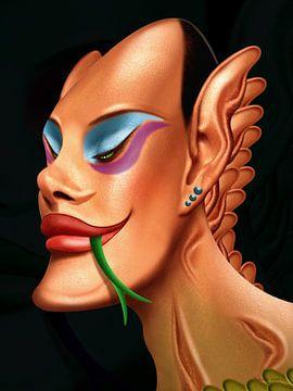 Drag(on) Queen (Extravagant) von Ton van Hummel (Alias HUVANTO)