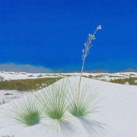 White Sands National Monument, New Mexico, USA. Acryl schilderij van Marlies Huijzer van Martin Stevens