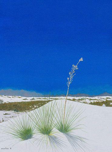 White Sands National Monument, New Mexico, USA. Acryl schilderij van Marlies Huijzer