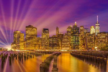 MANHATTAN SKYLINE Bright Sunset sur