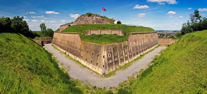 Panorama Fort st. Pieter te Maastricht van Anton de Zeeuw