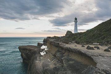 Castle Point Vuurtoren Nieuw-Zeeland van Tom in 't Veld