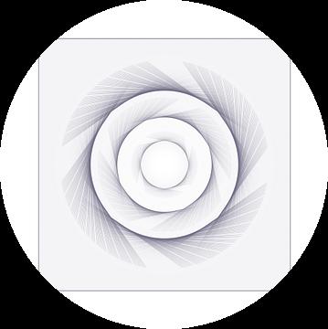 Squared Circle  (PWs) -  serie Squared Circle van intersensa - Jacqueline Lemmens