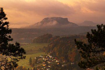 Zonsopgang in Saksisch Zwitserland