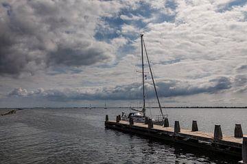Typische Hollandse zomer wolken lucht van