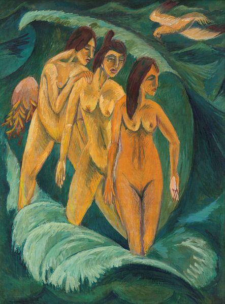 Three bathers, Ernst Ludwig Kirchner von Meesterlijcke Meesters