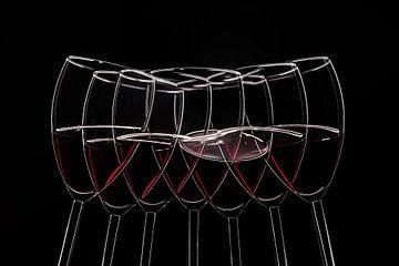 Seven glasen wijn in beweging van Heinz Trebuth