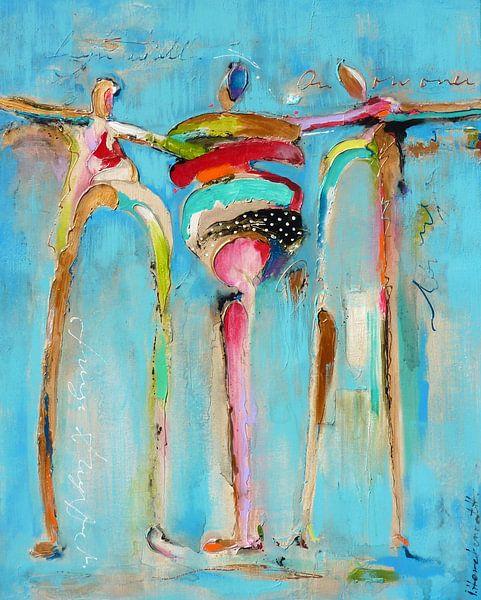 3 happy people van Atelier Paint-Ing