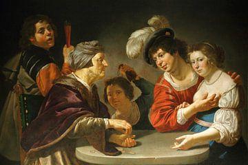 Jan van Bijlert, Der Kupplerin, 1630 von Atelier Liesjes