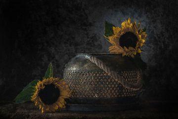 Stillleben Sonnenblumen von Digitale Schilderijen