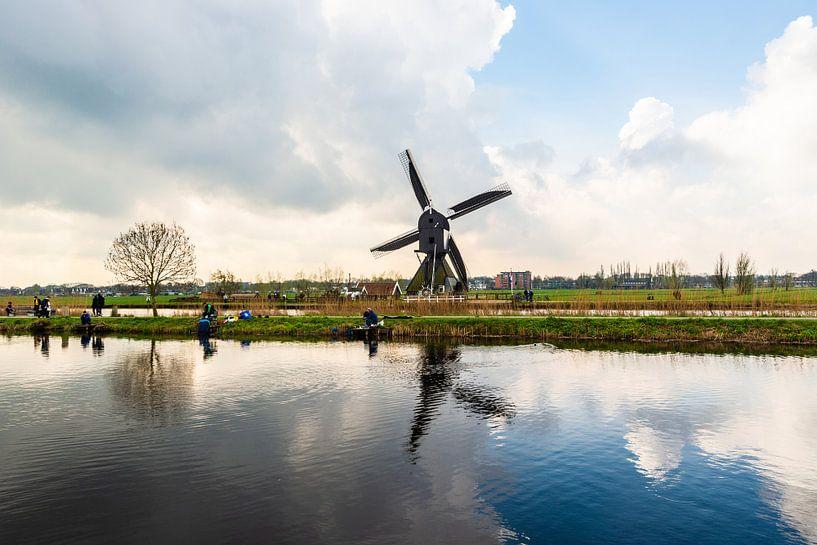 Kinderdijk Windmolens van Brian Morgan