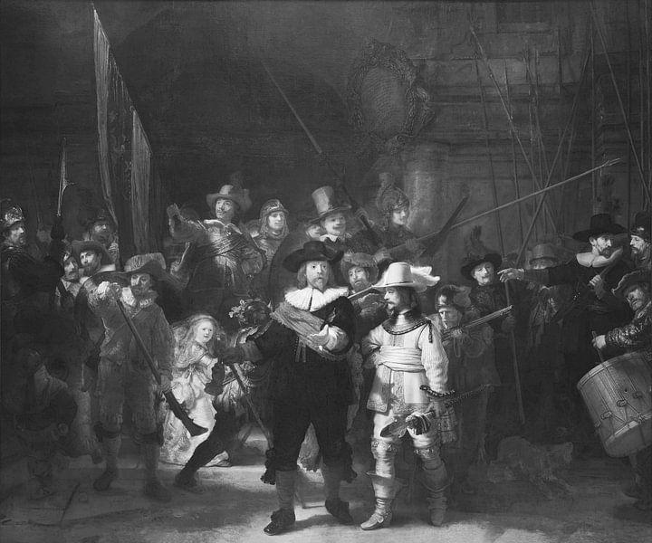 De Nachtwacht - Rembrandt van Rijn van Marieke de Koning