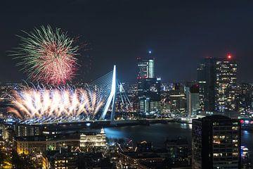 Das nationale Feuerwerk in Rotterdam von MS Fotografie | Marc van der Stelt