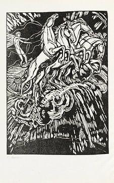 paarden, Resinger - Phaeton, LUDWIG VON HOFMANN, 1922