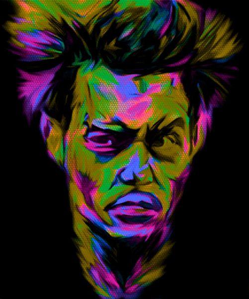 Johnny Depp Pop Art PUR Serie No.3 van Felix von Altersheim