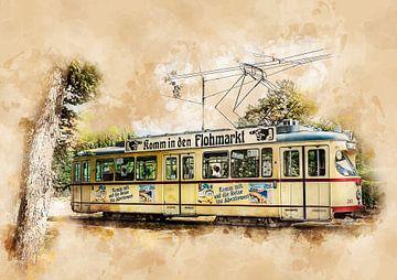 Historische tram in Kiel van Peter Roder